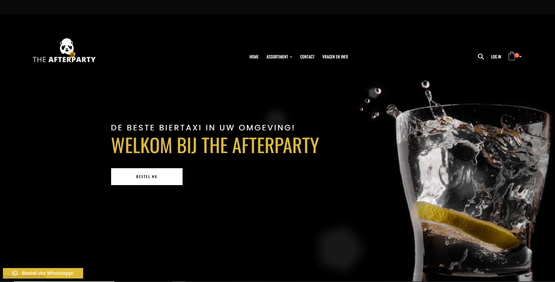 The After Party Cuijk - Biertaxi website
